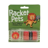 Racket Pets Dampener + Overgrip Set Lion image