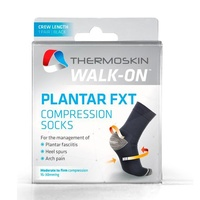 Thermoskin Walk-On Plantar FXT Compression Crew Socks Black image