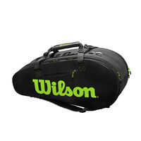 Wilson Super Tour 2 Comp 9 Pack Bag Black/Green image