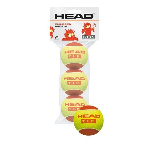 HEAD T.I.P Red 3 Ball PKT (Modified Ball)