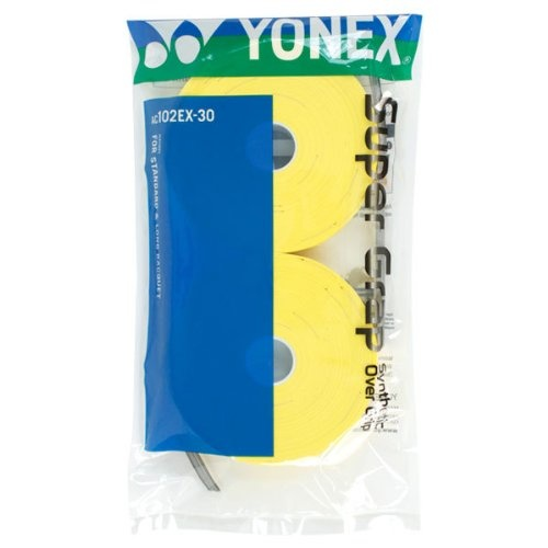 Yonex Supergrap Overgrip 30 Pack [Colour: Yellow]