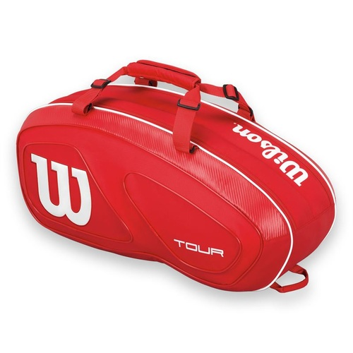 Wilson Tour V 6 Pack Red